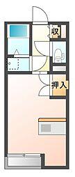 JR山陽本線 瀬戸駅 徒歩26分の賃貸アパート 1階1Kの間取り