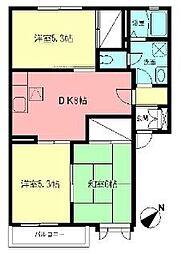 ドルフ城所I[2階]の間取り