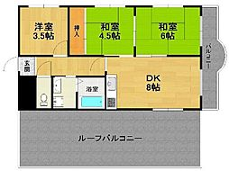 ドルチェK&Y[4階]の間取り