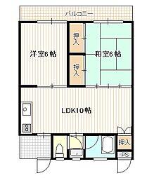 広島県広島市西区庚午中1丁目の賃貸マンションの間取り