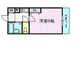 エムロード蒲生[5階]の間取り