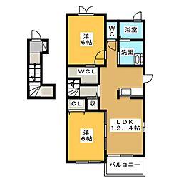 ヴァーサA[2階]の間取り