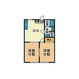 代田ハイツ[1階]の間取り