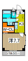 埼玉県さいたま市桜区山久保1丁目の賃貸マンションの間取り