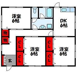[一戸建] 福岡県古賀市小山田 の賃貸【/】の間取り
