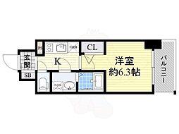 Osaka Metro長堀鶴見緑地線 京橋駅 徒歩3分の賃貸マンション 15階1Kの間取り