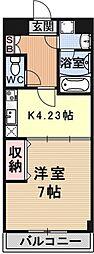 エンゼルプラザeast2[703号室号室]の間取り