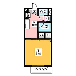 サープラスヤマダ[2階]の間取り