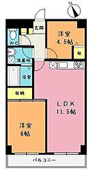 NKサンライトマンション[7階]の間取り