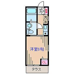 ディアマンテ大倉山[1階]の間取り