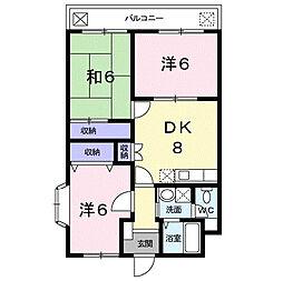 スペース21 3階3DKの間取り