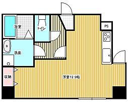 名古屋市営東山線 本山駅 徒歩6分の賃貸マンション 1階ワンルームの間取り