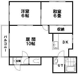 パレスマンション清田[401号室]の間取り