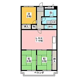ヤマイチマンション[1階]の間取り