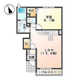 コンフォート長谷川園[1階]の間取り