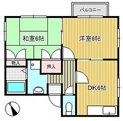 ヤンロゼI[2階]の間取り