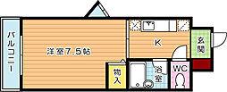 メゾン浅川台[4階]の間取り