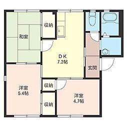 フローラ湘南 II[1階]の間取り