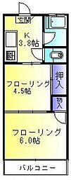 東京都町田市小川7丁目の賃貸マンションの間取り
