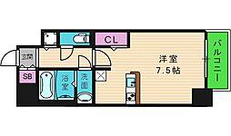 レジュールアッシュOSAKA今里駅前 3階1Kの間取り