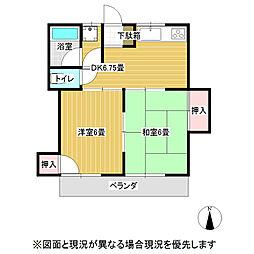 ハイツ山本[1階]の間取り