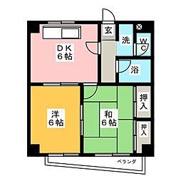 山伝マンション[2階]の間取り