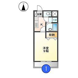 プチメゾン稲生II[1階]の間取り