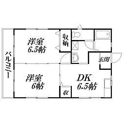 静岡県浜松市東区有玉台4丁目の賃貸マンションの間取り