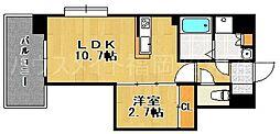 ラフレーサ大濠II荒戸[3階]の間取り