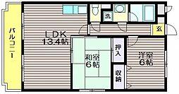 東京都三鷹市新川4の賃貸マンションの間取り