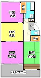 埼玉県和光市丸山台1丁目の賃貸マンションの間取り