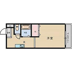 エヴァース明田[4階]の間取り