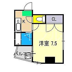 みつわビルII[6階]の間取り