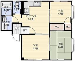 ロイヤルセピア2[3階]の間取り