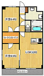 ラ・ヴィー・エターナル[3階]の間取り