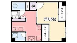 メゾン甲子園六番町[301号室]の間取り