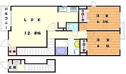 サンセットヒルズ[2階]の間取り