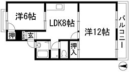 サンコートヨシナガB棟[2階]の間取り