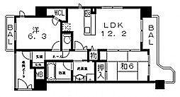 エスリード八尾北本町[4階]の間取り