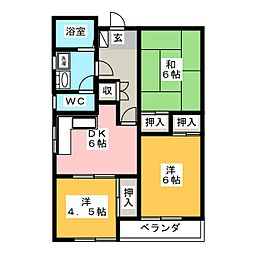 コーポ村田[2階]の間取り