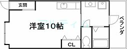 京阪本線 鳥羽街道駅 徒歩3分の賃貸アパート 1階ワンルームの間取り