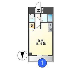 タウンエステート新栄[5階]の間取り