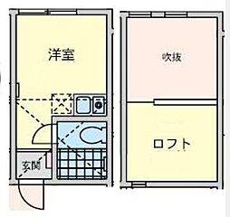神奈川県横浜市金沢区六浦東3丁目の賃貸アパートの間取り