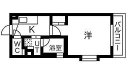 タウンライフ覚王山北 2階1Kの間取り