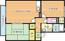 ウィルモアWADA(ウィルモアワダ)[2階]の間取り