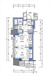 都営新宿線 小川町駅 徒歩30分の賃貸マンション 4階1DKの間取り