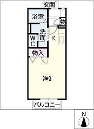 Tアベニュー[1階]の間取り