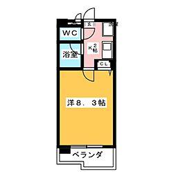 ハイツAMI[2階]の間取り