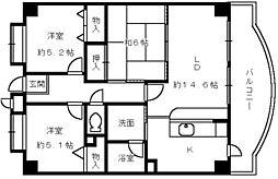 サングレース和泉[7階]の間取り