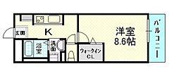 ラージ[2階]の間取り